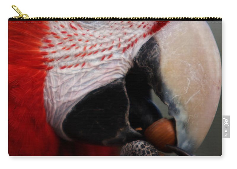 Macaw Carry-all Pouch featuring the photograph The Macaw by Angel Ciesniarska