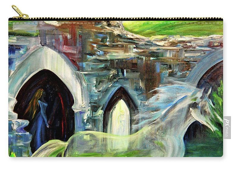 England Carry-all Pouch featuring the painting The Magic And Majesty Of Corfe Castle by Jennifer Christenson