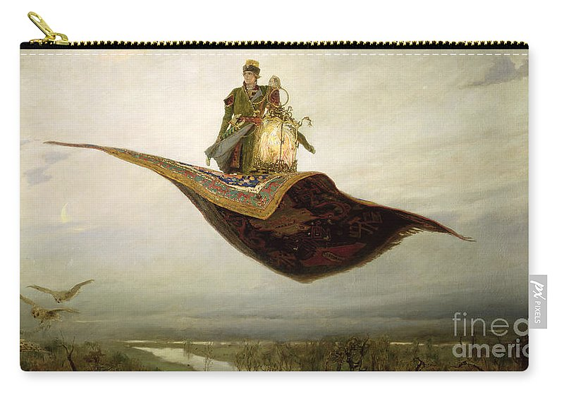 Magical Carry-all Pouch featuring the painting The Magic Carpet by Apollinari Mikhailovich Vasnetsov