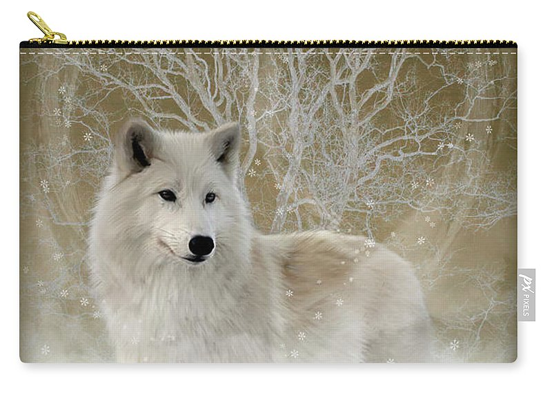 Fantasy Carry-all Pouch featuring the photograph The Magical Wolf by Andrea Swiedler