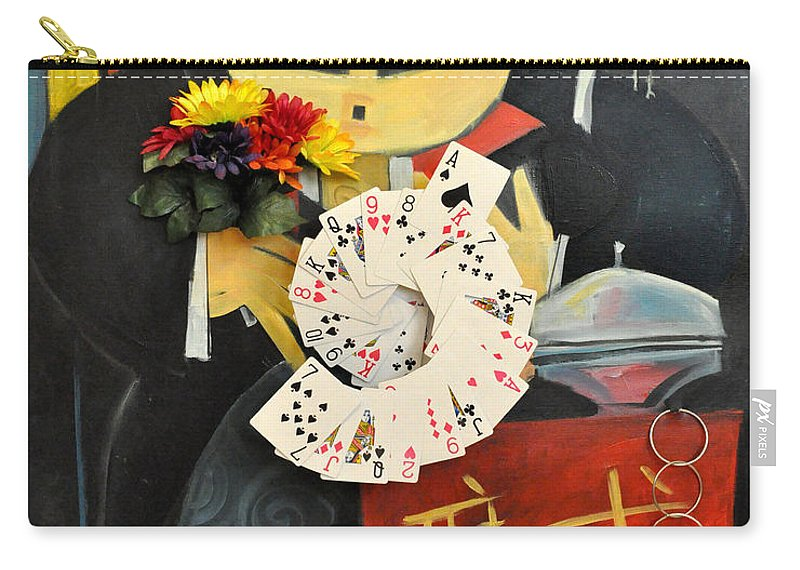 Magic Carry-all Pouch featuring the painting The Magician by Tim Nyberg