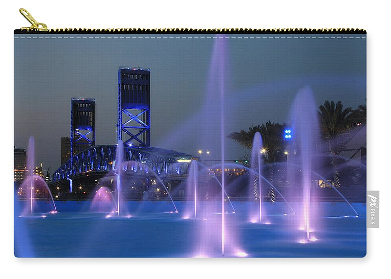 Jacksonville Carry-all Pouch featuring the photograph The Main Street Bridge by Lori Deiter