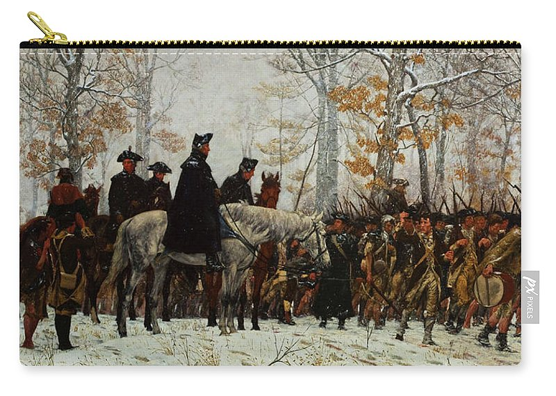 March Carry-all Pouch featuring the painting The March To Valley Forge, Dec 19, 1777 by William Trego