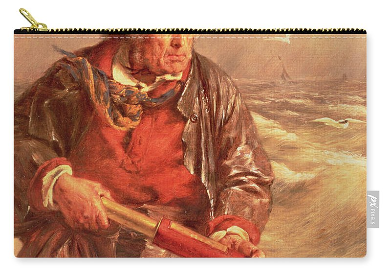 The Carry-all Pouch featuring the painting The Mariner by Erskine Nicol