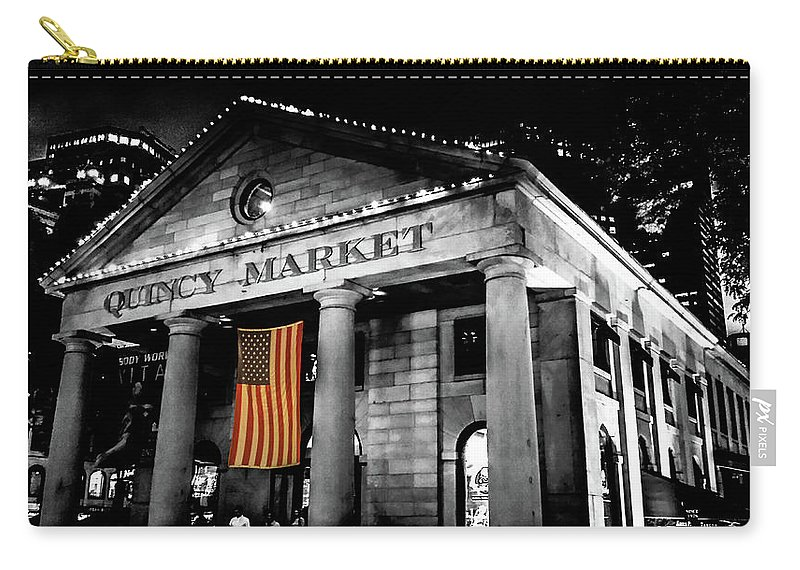 Quincy Market Carry-all Pouch featuring the digital art The Market by Kenny Kunzman
