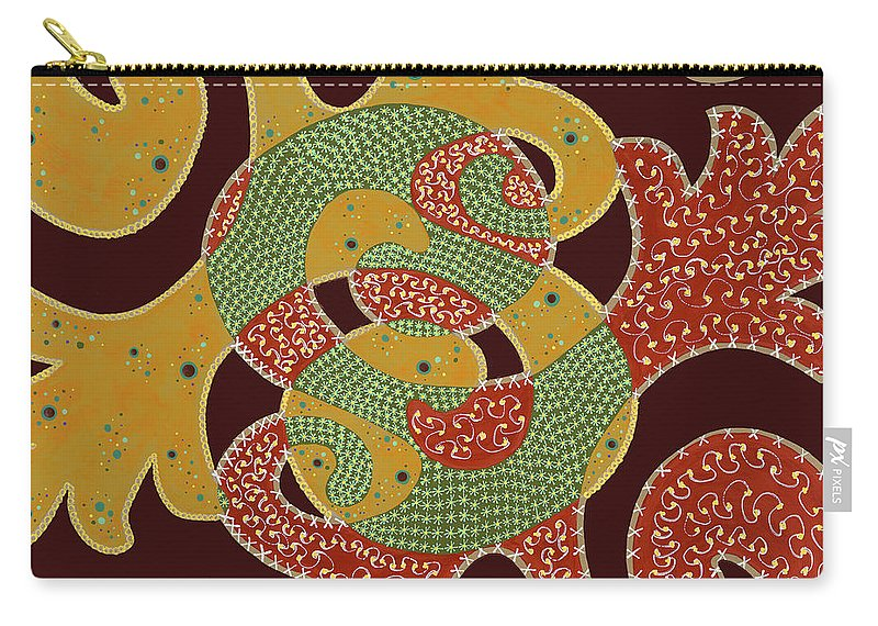 Abstract Carry-all Pouch featuring the painting The Marvel by Louise Hankes