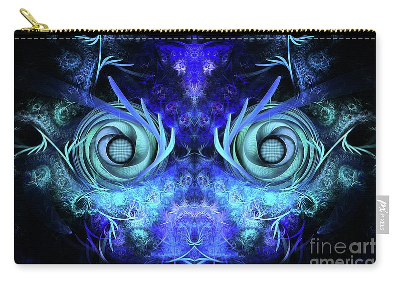 Mask Carry-all Pouch featuring the digital art The Mask by John Edwards