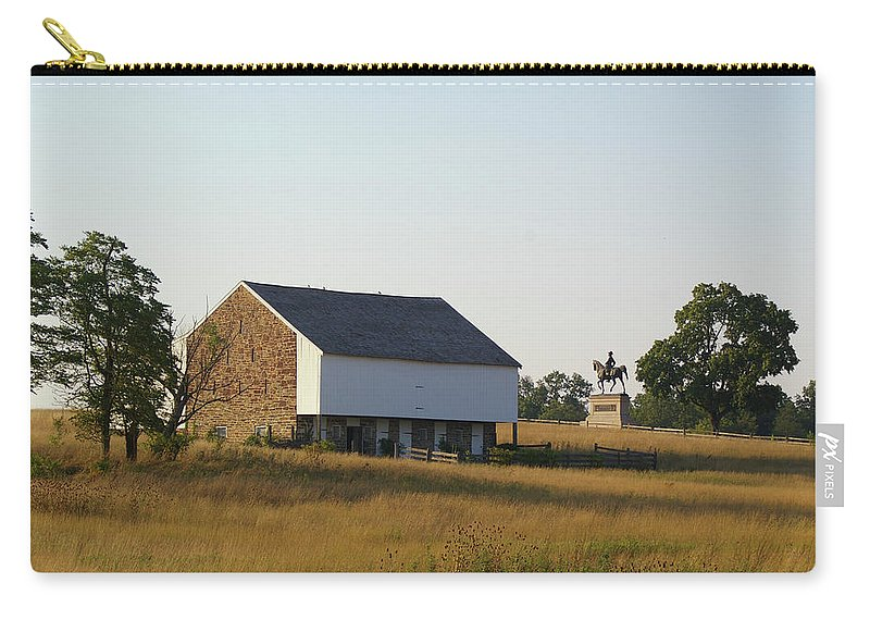 Gettysburg Carry-all Pouch featuring the photograph The Mcpherson Barn by Jen Goellnitz