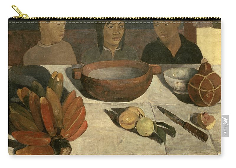 The Meal The Meal (the Bananas) Carry-all Pouch featuring the painting The Meal by Paul Gauguin