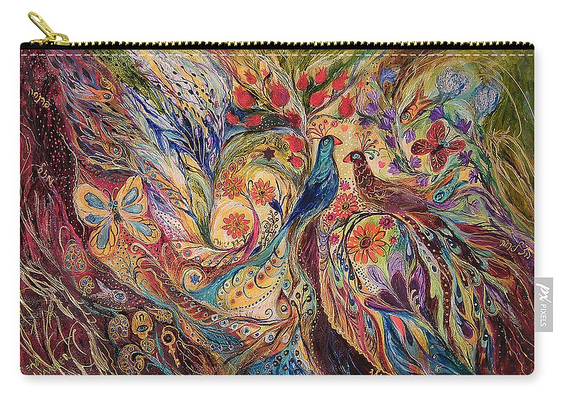Original Carry-all Pouch featuring the painting The Mediterranean Summer by Elena Kotliarker