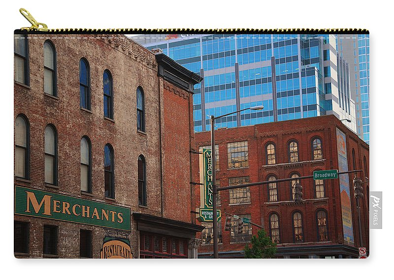 The Merchants Carry-all Pouch featuring the photograph The Merchants Nashville by Susanne Van Hulst