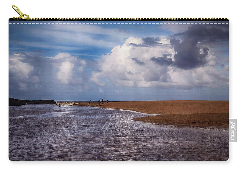 Kauai Carry-all Pouch featuring the photograph The Merge by Laurie Search