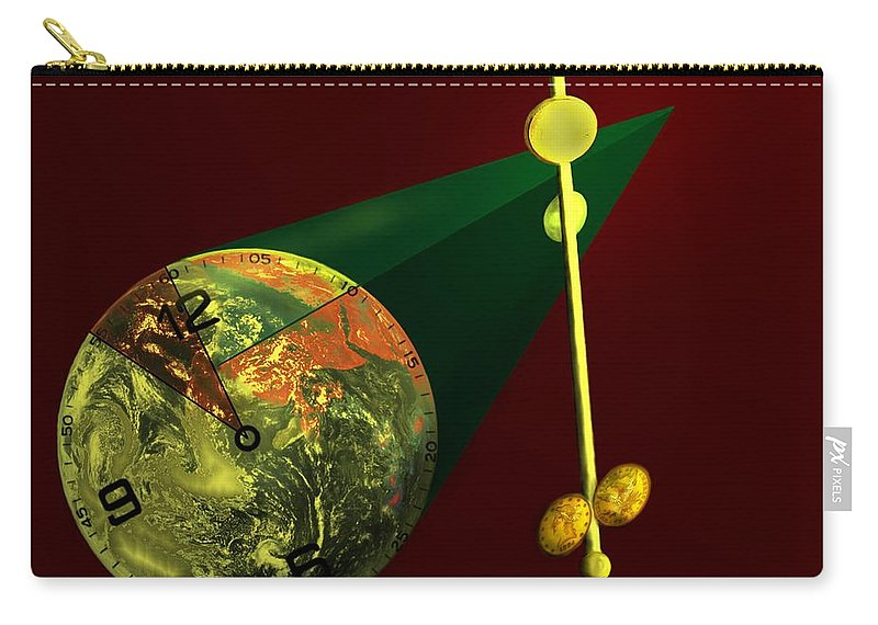 Earth Carry-all Pouch featuring the digital art The Metronome by Helmut Rottler