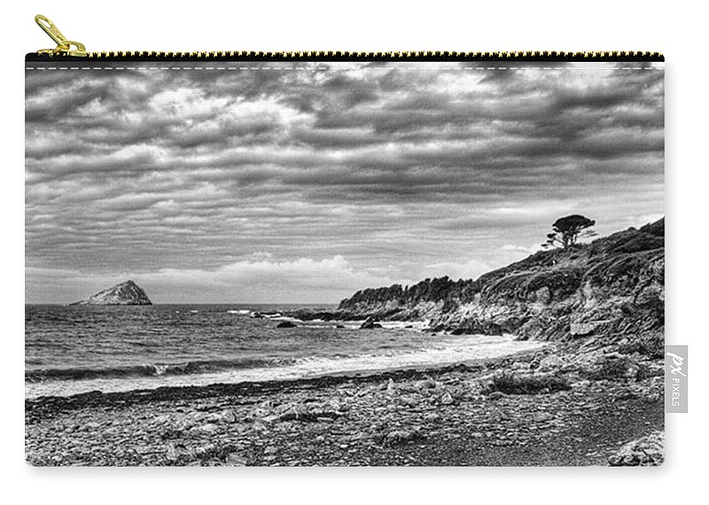 Devonshire Carry-all Pouch featuring the photograph The Mewstone, Wembury Bay, Devon #view by John Edwards