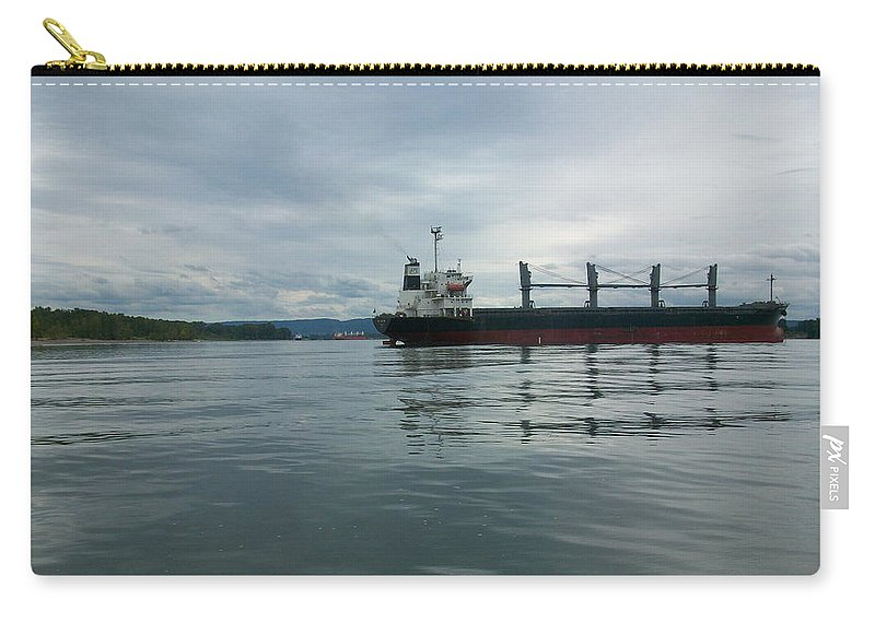 Photography Carry-all Pouch featuring the photograph The Mighty Columbia by Quin Sweetman