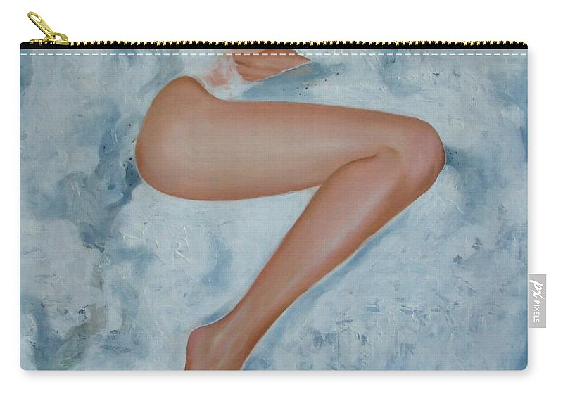 Art Carry-all Pouch featuring the painting The Milk Bath by Sergey Ignatenko