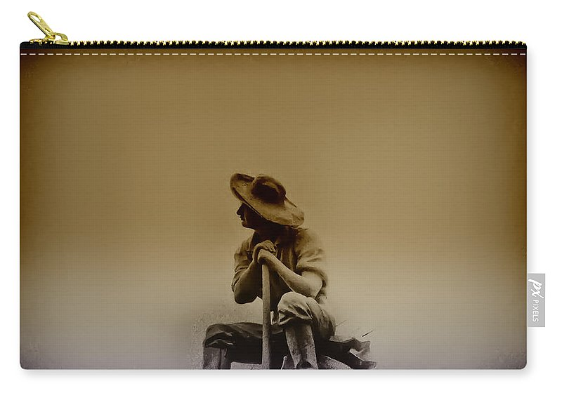 Philadelphia Carry-all Pouch featuring the photograph The Miner by Bill Cannon