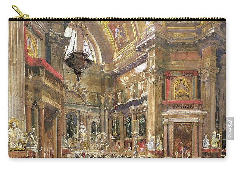 The Carry-all Pouch featuring the painting The Miracle Of The Liquefaction Of The Blood Of Saint Januarius by Giacinto Gigante