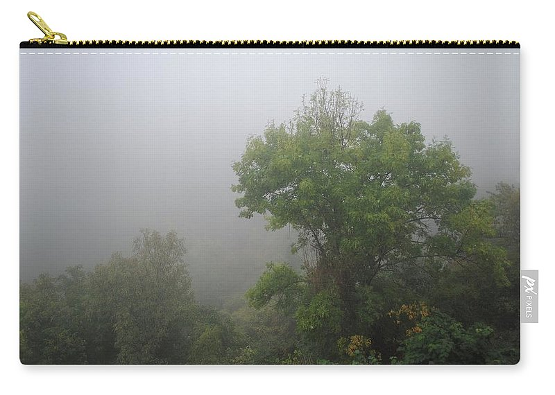Fog Carry-all Pouch featuring the photograph The Mists by Margaret Fronimos