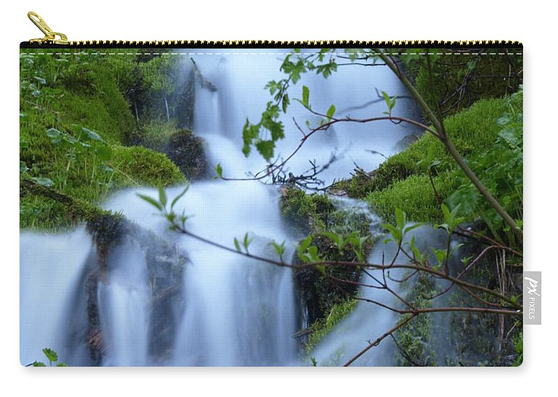 Water Carry-all Pouch featuring the photograph The Misty Brook by DeeLon Merritt