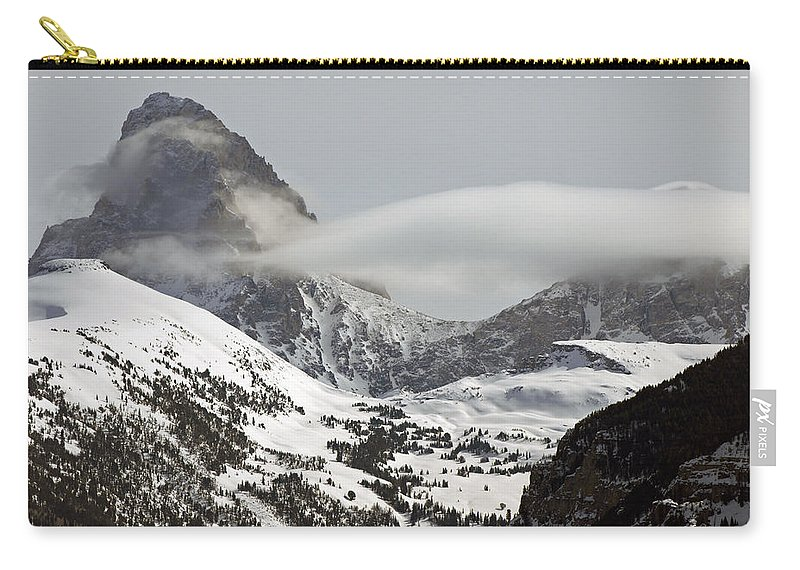Landscape Carry-all Pouch featuring the photograph The Misty Grand by DeeLon Merritt