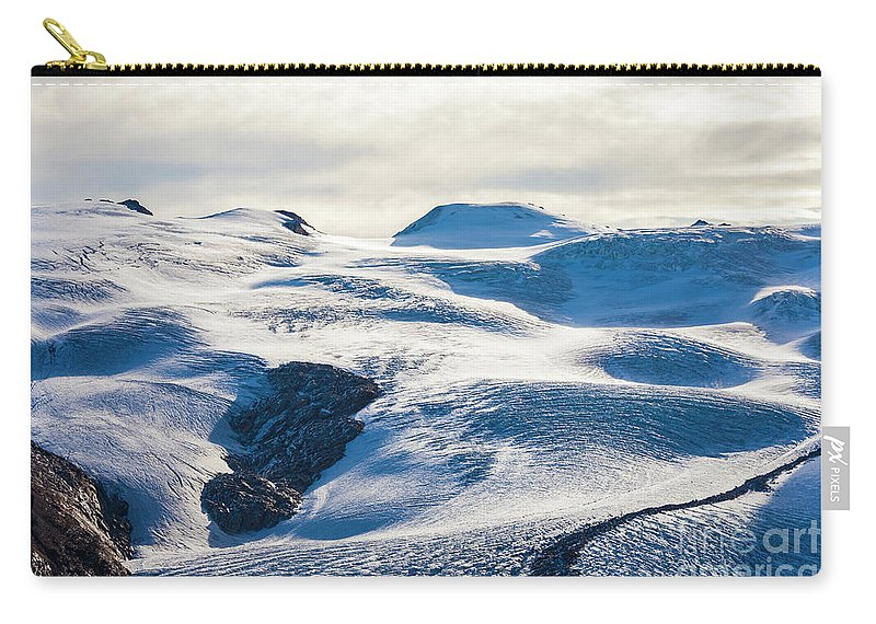 Zermatt Carry-all Pouch featuring the photograph The Monte Rosa Glacier In Switzerland by Werner Dieterich