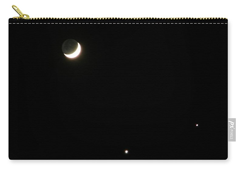 Moon Carry-all Pouch featuring the photograph The Moon And Stars by Gale Cochran-Smith