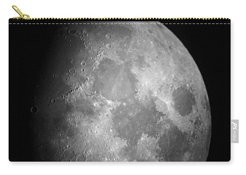 Moon Carry-all Pouch featuring the photograph The Moon by Chris Day