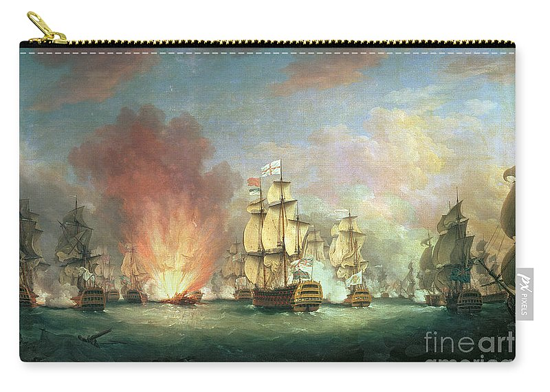 The Carry-all Pouch featuring the painting The Moonlight Battle by Richard Paton