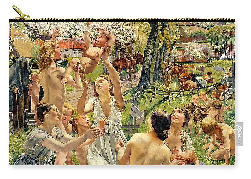 The Carry-all Pouch featuring the painting The Morning by Leon Henri Marie Frederic