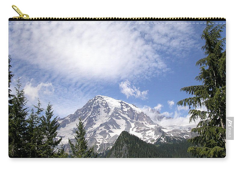 Mountain Carry-all Pouch featuring the photograph The Mountain Mt Rainier Washington by Michael Bessler