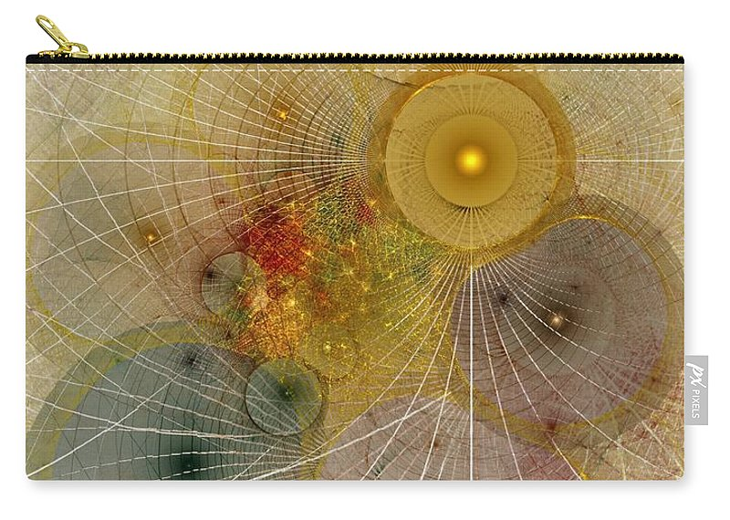 Abstract Carry-all Pouch featuring the digital art The Mourning Of Persephone - Fractal Art by NirvanaBlues