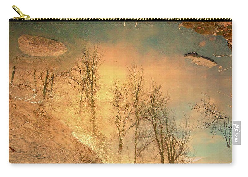 Ice Carry-all Pouch featuring the photograph The Movement Of Ice 2 by Tara Turner