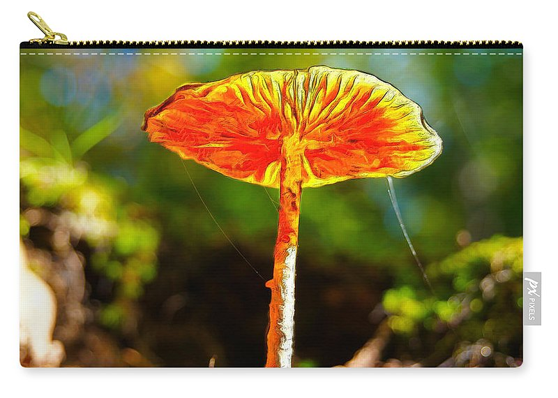 Lily Carry-all Pouch featuring the mixed media The Mushroom 10 - Mm by Leonardo Digenio