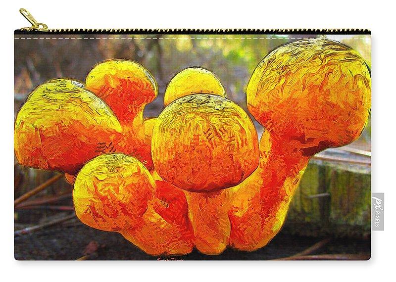 Mushrom Carry-all Pouch featuring the mixed media The Mushroom 9 - Mm by Leonardo Digenio