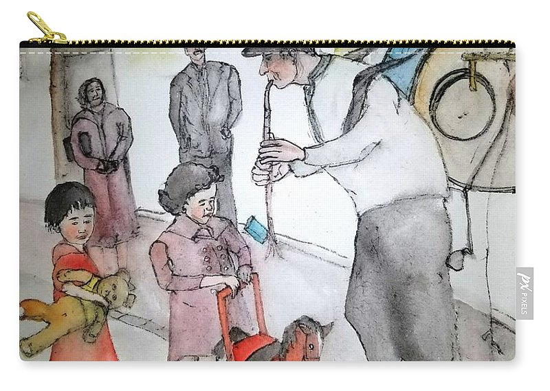 Carry-all Pouch featuring the painting The Music Man by Debbi Saccomanno Chan