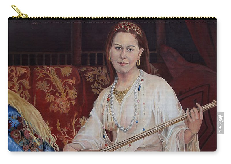Portrait Carry-all Pouch featuring the painting The Musician by Portraits By NC