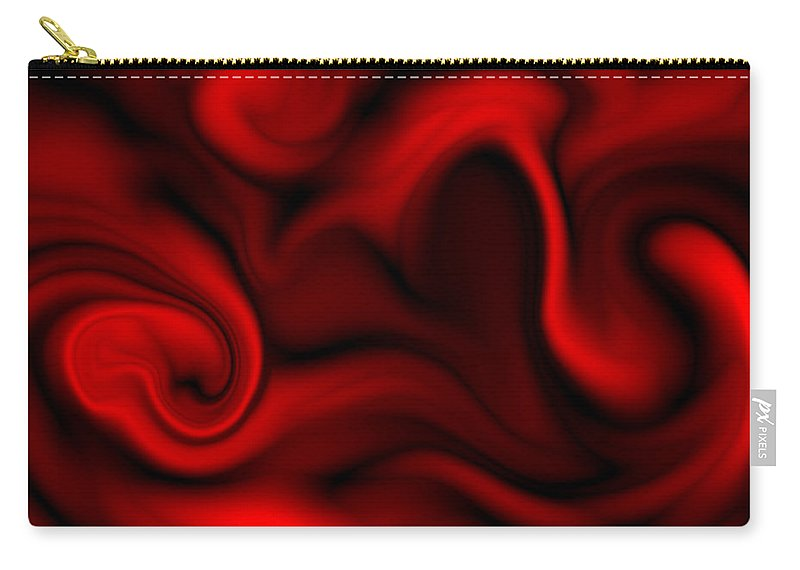 Heart Carry-all Pouch featuring the painting The Naked Heart Dreams Away Time by Abstract Angel Artist Stephen K