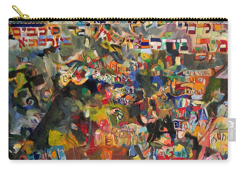 Jewish Art Carry-all Pouch featuring the painting The Nations' Claim by David Baruch Wolk