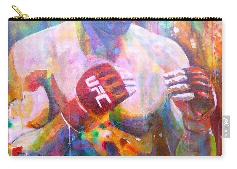 Painting Carry-all Pouch featuring the painting The Natural by Angie Wright