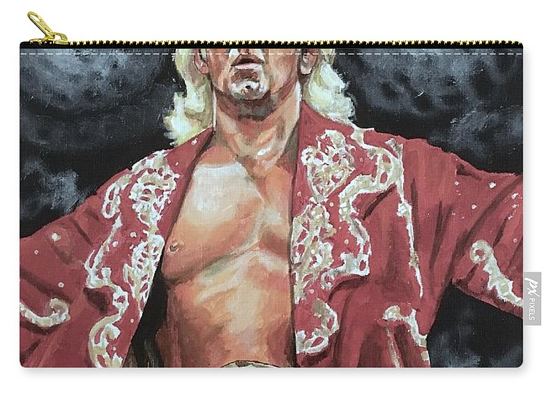 Nature Boy Carry-all Pouch featuring the painting The Nature Boy Ric Flair by Joel Tesch