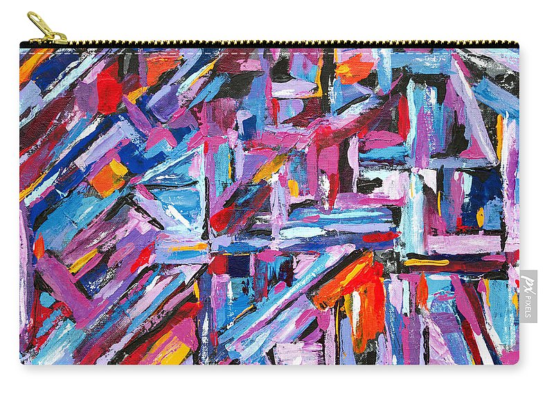 Angles Carry-all Pouch featuring the painting The Navagator by Expressionistart studio Priscilla Batzell