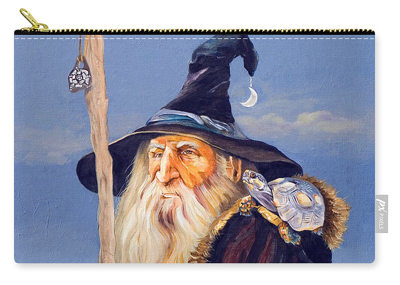 Wizard Carry-all Pouch featuring the painting The Navigator by J W Baker