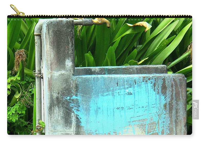 Water Carry-all Pouch featuring the photograph The Neighborhood Water Pipe by Ian MacDonald