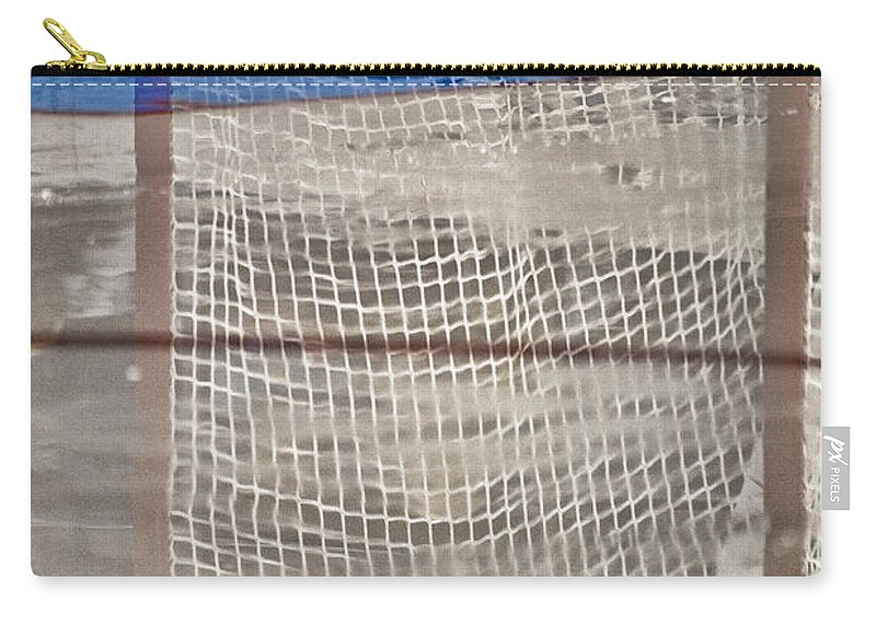 Hockey Carry-all Pouch featuring the photograph The Net Reflection by Karol Livote