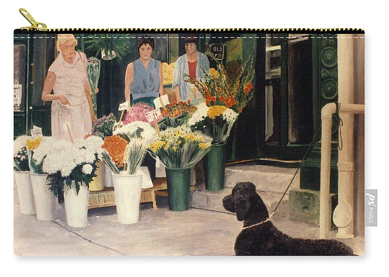 Mums Carry-all Pouch featuring the painting The New Deal by Steve Karol