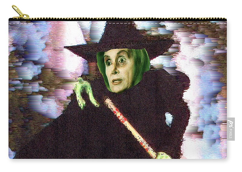 Wizard Of Oz Carry-all Pouch featuring the digital art The New Wicked Witch Of The West by Seth Weaver