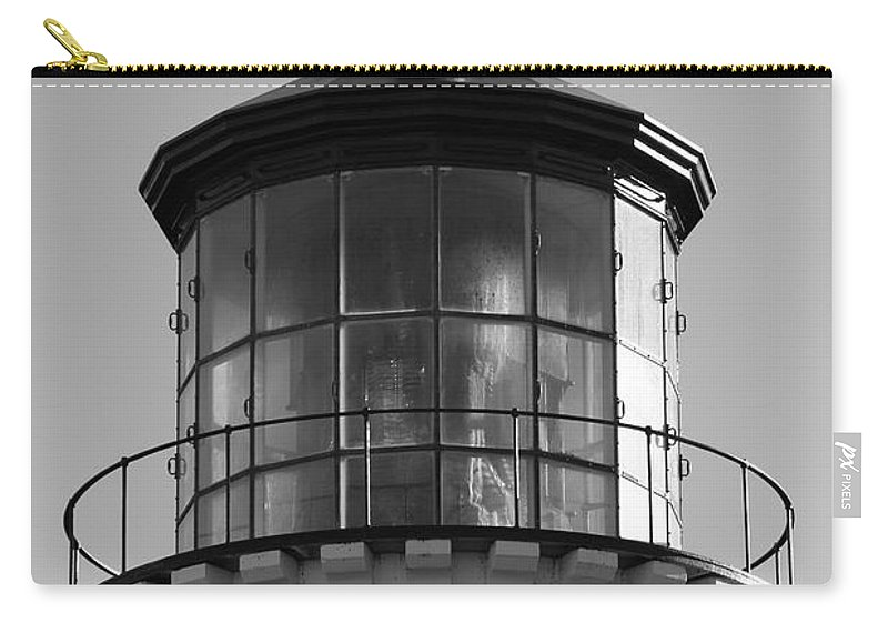Lighthouse Carry-all Pouch featuring the photograph The Night Light by Laddie Halupa
