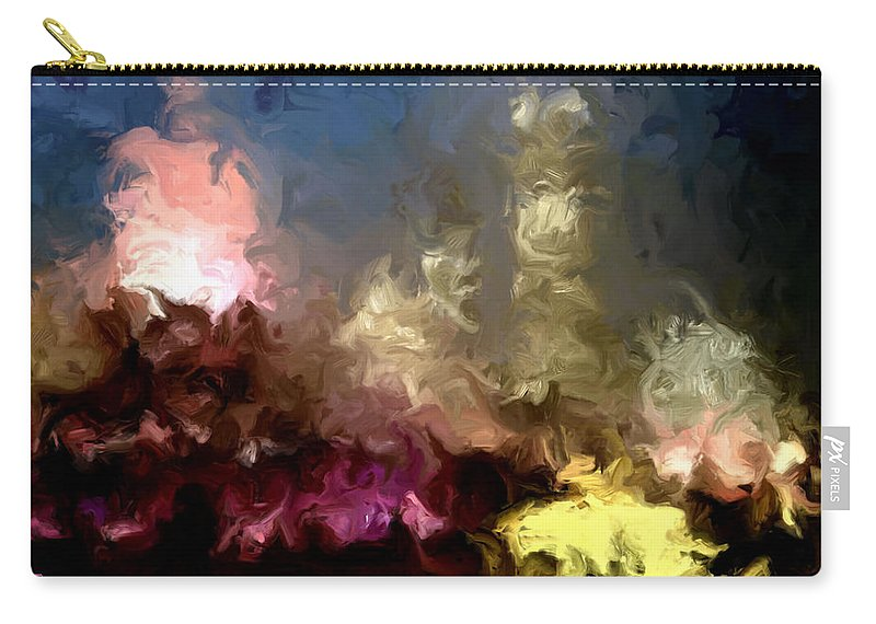 Pink Carry-all Pouch featuring the painting The Night Moves by Wayne Bonney