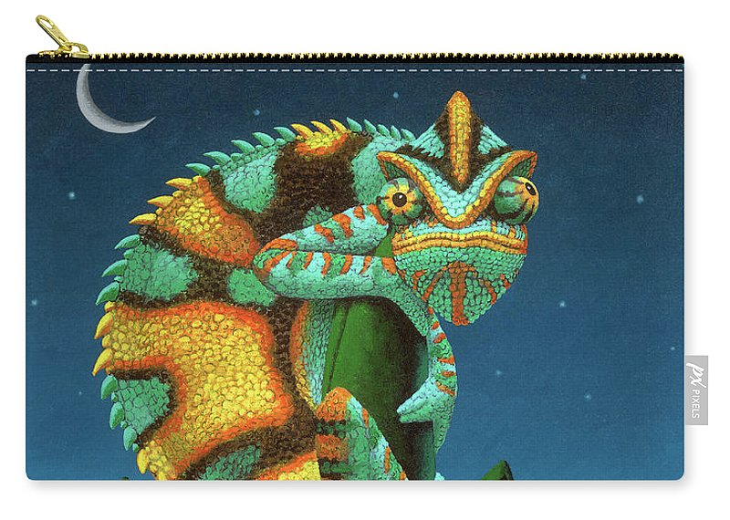 Chameleon Carry-all Pouch featuring the painting The Night Watch by Chris Miles